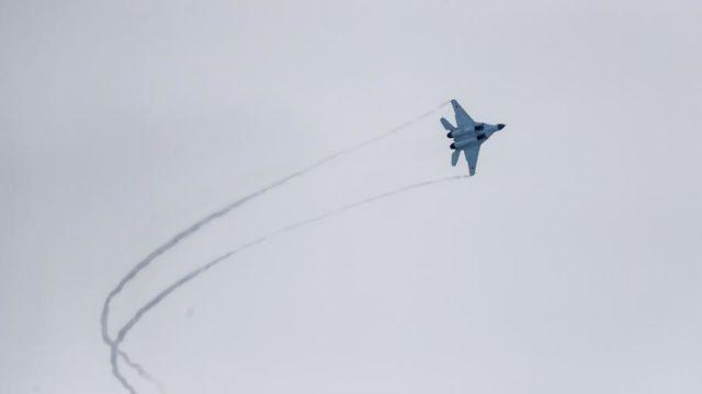 МиГ-35 во время демонстрационного полета