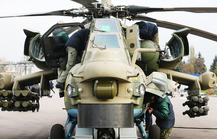 """Ударный вертолет  """"Ночной охотник"""" Ми-28НМ."""