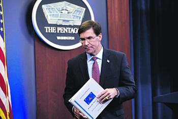 Министр обороны США Марк Эспер призвал Ирак к мерам по прекращению обстрелов проиранскими шиитскими боевиками американских военных баз. Фото Reuters