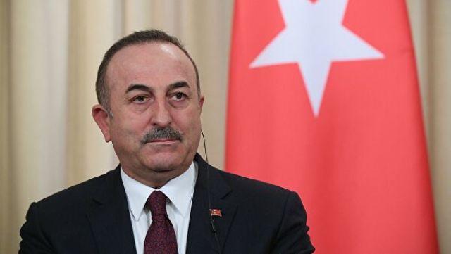Министр иностранных дел Турции Мевлют Чавушоглу на пресс-конференции по итогам встречи глав МИД и Минобороны России и Турции.
