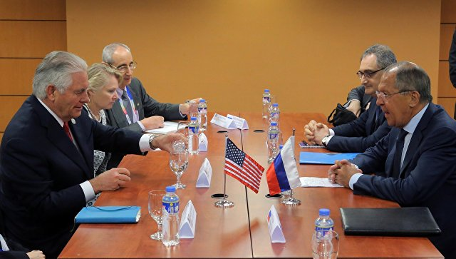 Министр иностранных дел РФ Сергей Лавров и государственный секретарь США Рекс Тиллерсон. Архивное фото.