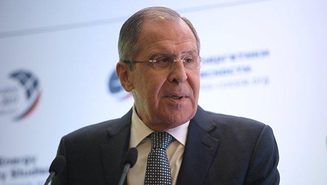 Министр иностранных дел РФ Сергей Лавров во время выступления на московской Конференции по нераспространению – 2017. 20 октября 2017.