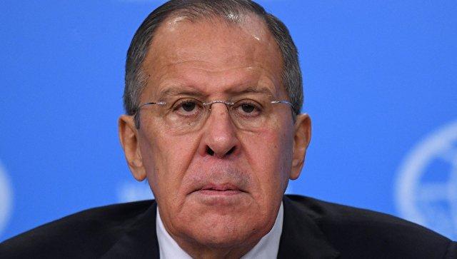 Министр иностранных дел России Сергей Лавров на пресс-конференции по итогам деятельности российской дипломатии в 2017 году. 15 января 2018.