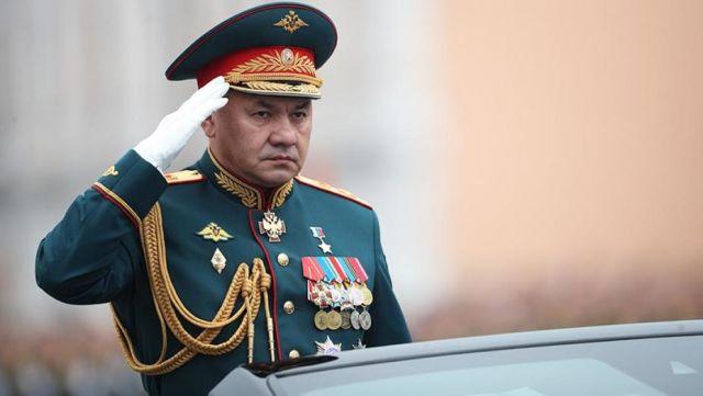 Министр обороны РФ Сергей Шойгу на Параде Победы.