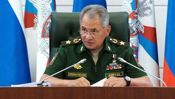 Министр обороны РФ Сергей Шойгу на заседании коллегии министерства обороны РФ. 18 августа 2017