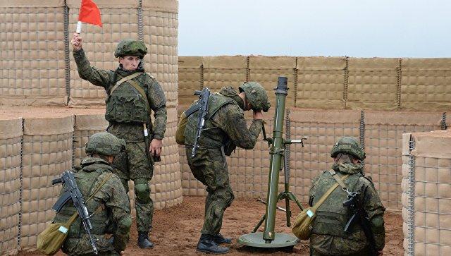 Минометный расчет вооруженных сил РФ. Архивное фото.