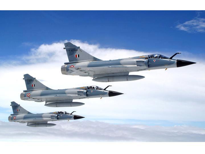 Истребители Mirage 2000 ВВС Индии.