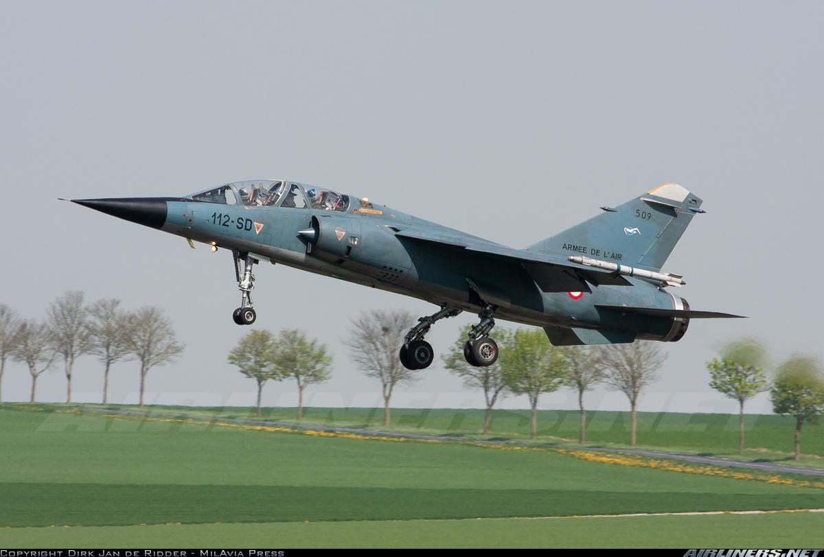 Истребитель Dassault Mirage F.1B ВВС Франции, 11.04.2011.
