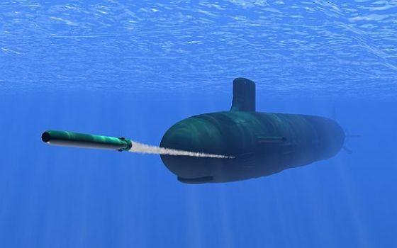 Пуск торпеды Mk 48 Mod 7 CBASS
