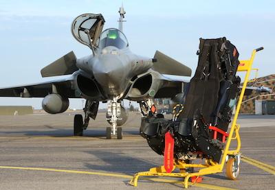 Катапультируемое кресло MKF16F и истребитель Dassault Rafale.