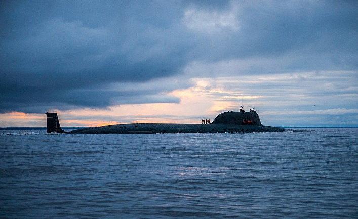 """Многоцелевая атомная подводная лодка проекта """"Ясень"""" К-560 """"Северодвинск""""."""