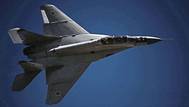 Многоцелевой истребитель МиГ-29.