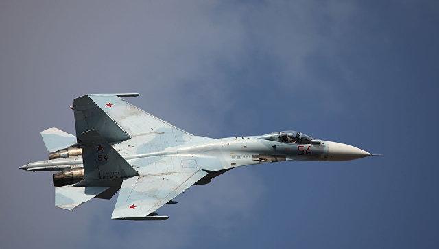 Многоцелевой истребитель Су-27СМ3. Архивное фото.