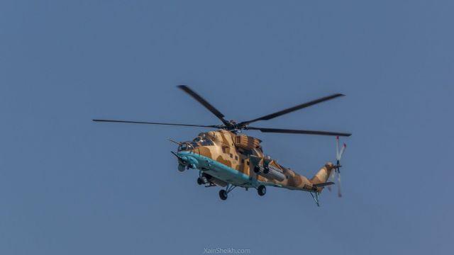 Многоцелевой ударный вертолет Ми-35М на военном параде в честь Дня Пакистана. 23 марта 2019 года.