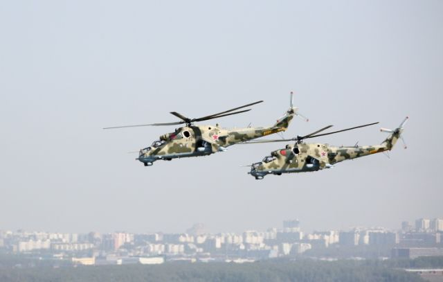 Многоцелевые ударные вертолеты Ми-24П