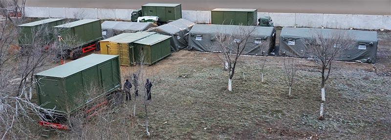 Мобильный медицинский госпиталь для Минобороны Республики Казахстан.