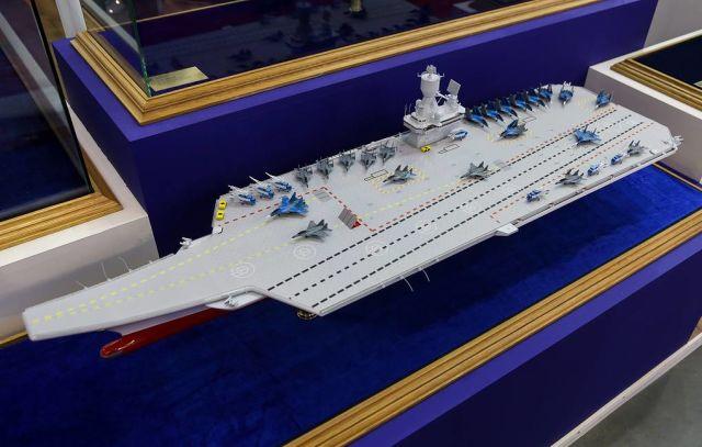 Модель авианосца разработки КГНЦ