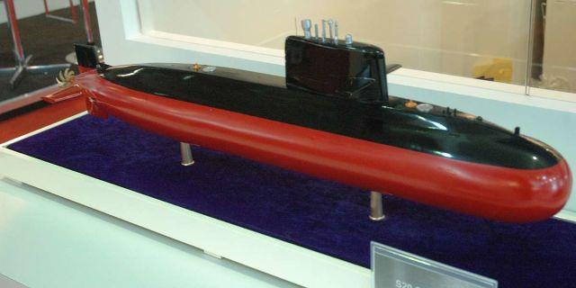 Модель китайской подводной лодки S20