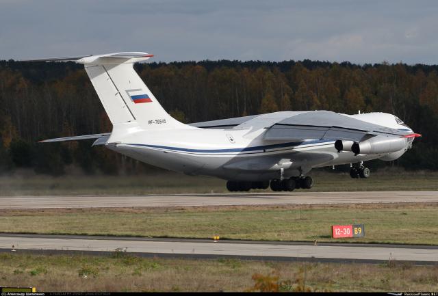 Модернизированный военно-транспортный самолет Ил-76МД-М ВКС России (регистрационный номер RF-76545, заводской номер 0033443266 , построен в 1983 году) Жуковский, 2020 год