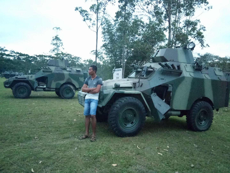 Модернизированные бронетранспортеры БТР-40 в составе 13-й отдельной кавалерийской роты 6-го окружного территориального командования сухопутных войск Индонезии. Восточный Калимантан, май 2018 года.
