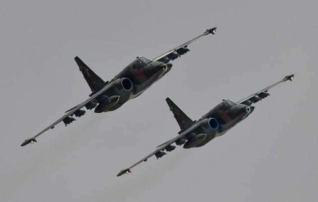 Модернизированные штурмовики Су-25СМ