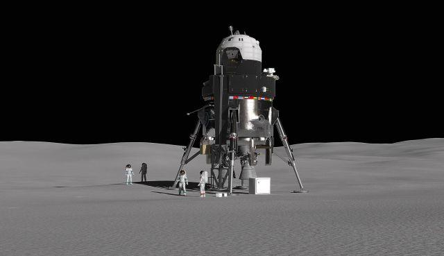 Модуль на поверхности Луны