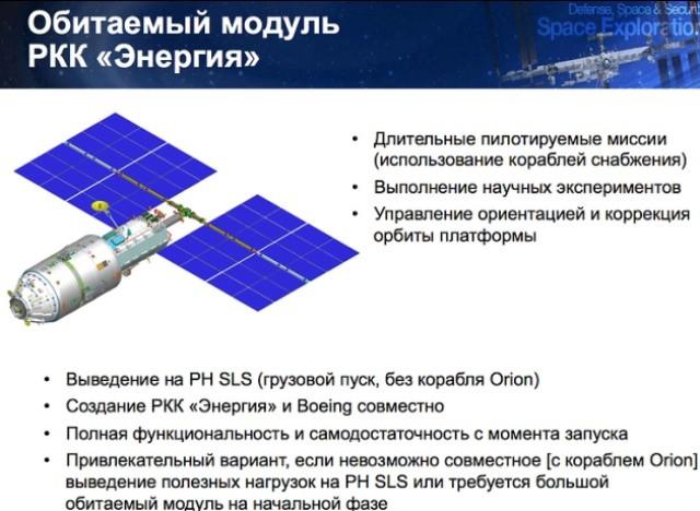 """Обитаемый модуль РКК """"Энергия""""."""