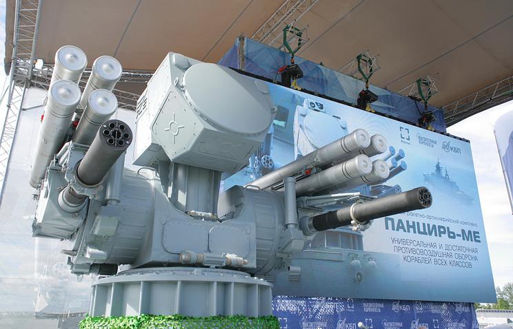 """Морской зенитный ракетно-артиллерийский комплекс """"Панцирь-МЕ""""."""