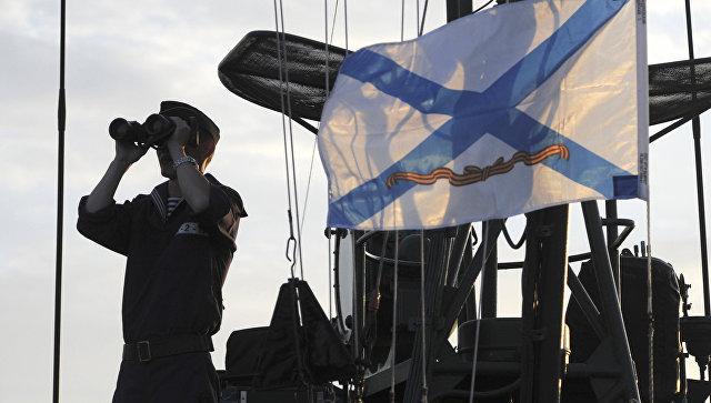 Моряк во время учений Каспийской флотилии. Архивное фото.