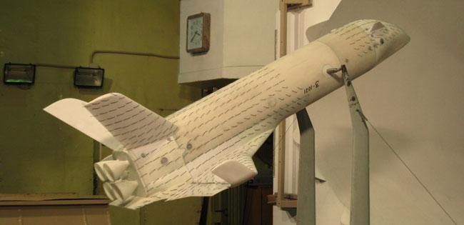 Модель многоразовой ракетно-космической системы (МРКС), разработанной ГКНПЦ им. М.В. Хруничева. Источник: ЦАГИ