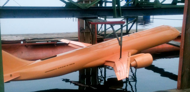 Модель перспективного ближне-среднемагистрального самолета МС-21