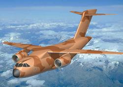 Российско-Индийский многоцелевой транспортный самолет, разрабатывается в транспортной модификации MRTA (в России известен также как МТС или Ил-214)<br>Источник: http://www.ilyushin.org/.
