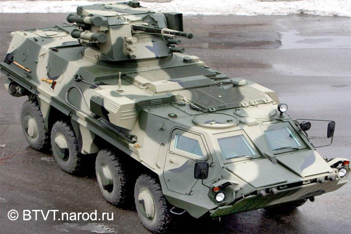 Украинский БТР-4 с боевым модулем.