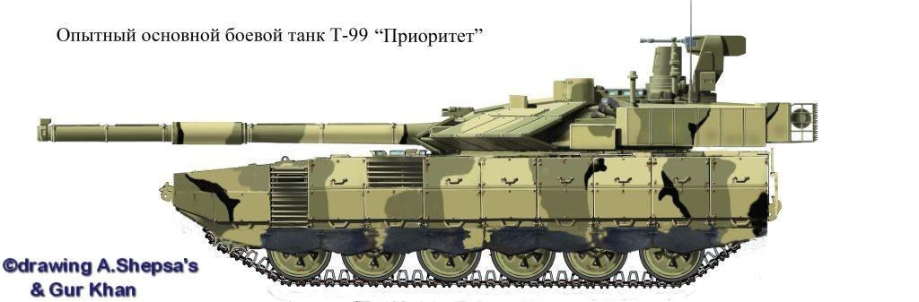 Проект &quot;Армата&quot; Тагильского КБ, в переднедвигательном исполнении<br>http://alternathistory.org.ua/opytnyi-osnovnoi-boevoi-tank-t-99-prioritet-rossiya