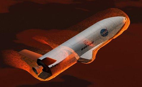 X-37B - вход в атмосферу (компьютерная графика).<br>http://www.proza.ru/2010/04/23/947.
