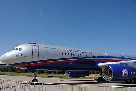 На фото Ту-214ОН, подготовленный для полетов в рамках Договора по открытому небу. Фото Павла Сарычева\НГ-Online