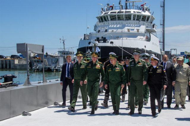 На новом месте базирования Каспийской флотилии смогут разместиться 54 судна.