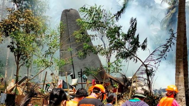 На юге Филиппин разбился военно-транспортный самолёт C-130 Hercules
