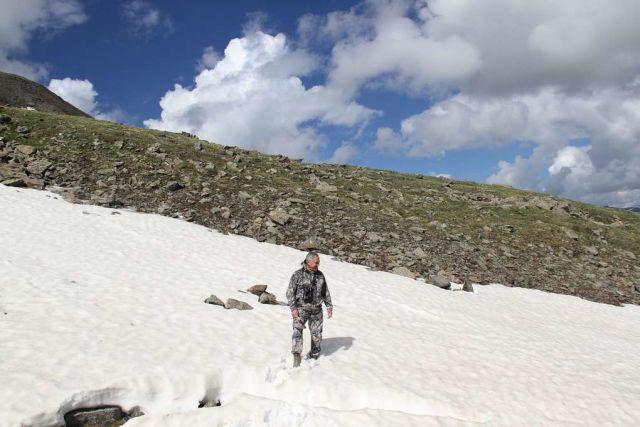 На горе Монгун-Тайга в Республике Тува