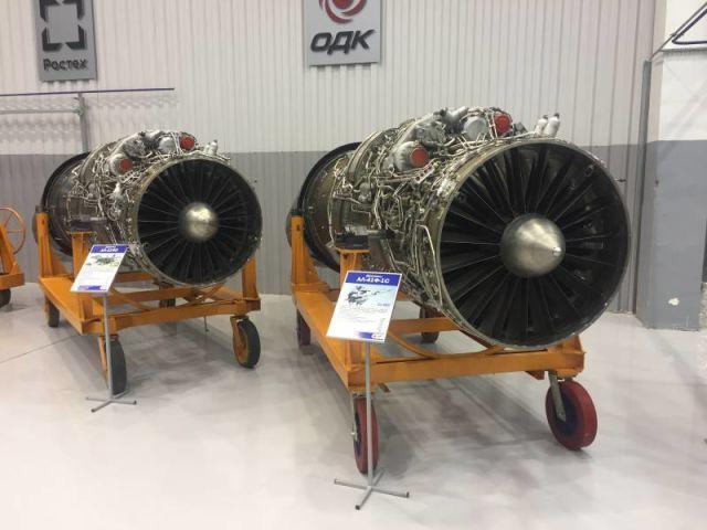 Двигатели АЛ-31ФП (слева) и АЛ-41Ф-1С
