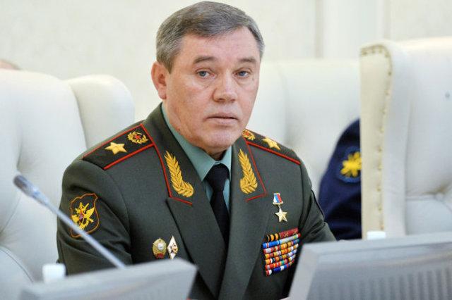 Начальник Генерального штаба Вооружённых Сил Российской Федерации - первый заместитель министра обороны Российской Федерации генерал армии Валерий Герасимов.