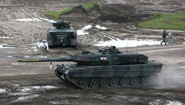 Немецкий танк Leopard 2.
