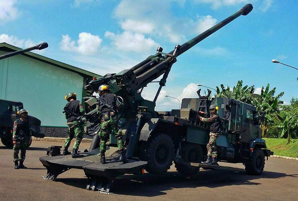155-мм/52 самоходная гаубица Nexter Systems CAESAR индонезийской армии