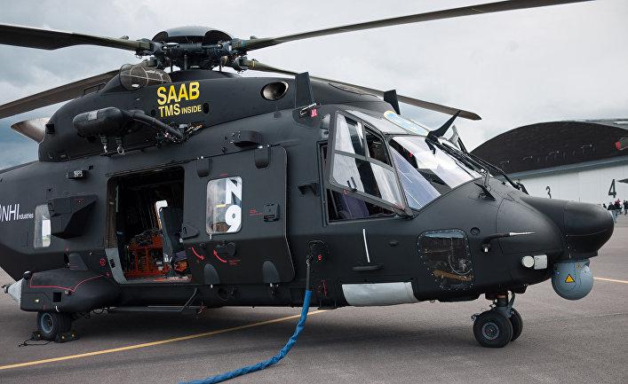 Модернизация вертолета NHI NH90 перед передачей в вооруженные силы Швеции.
