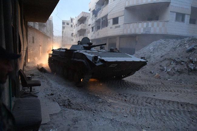Новая версия БМП-1 с усиленной защитой замечена в Сирии