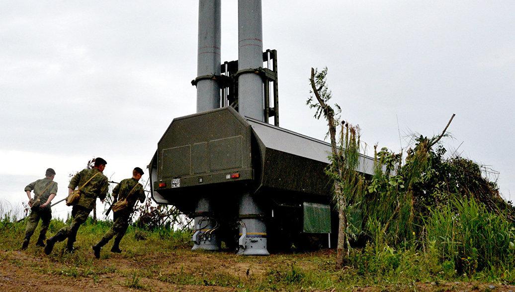 Новый береговой ракетный комплекс Бастион во время учений. Архивное фото.