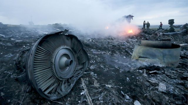 Обломки малайзийского авиалайнера Boeing 777