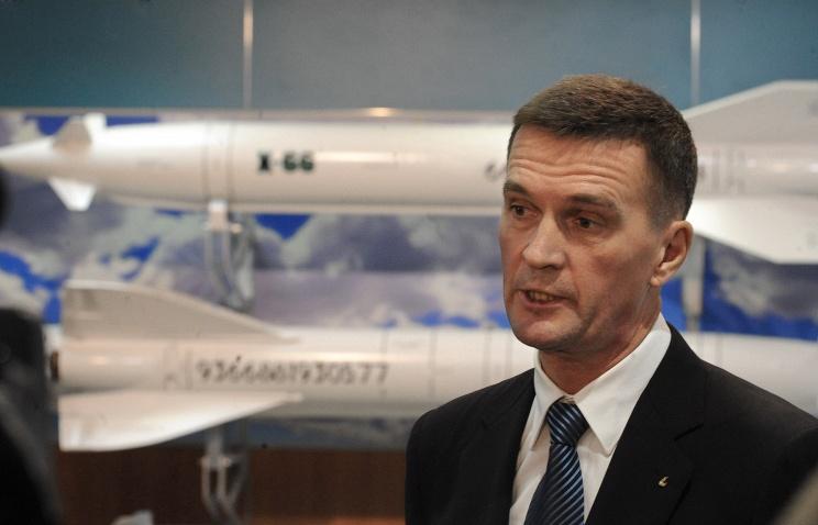 """Глава корпорации """"Тактическое ракетное вооружение"""" Борис Обносов."""