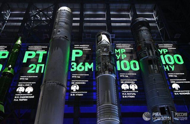 Образцы баллистических ракет первого поколения в учебно-научном центре Военной академии Ракетных войск стратегического назначения имени Петра Великого