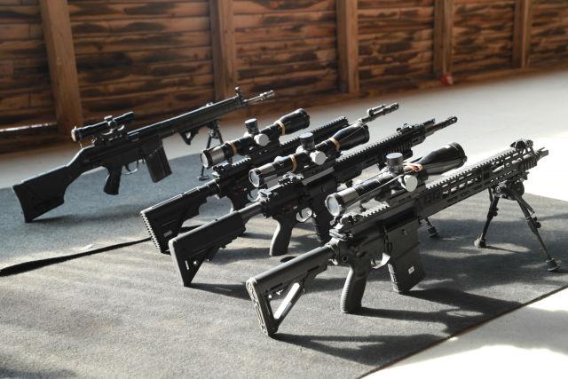 Образцы винтовок под патрон НАТО 7,62 х 51 мм.